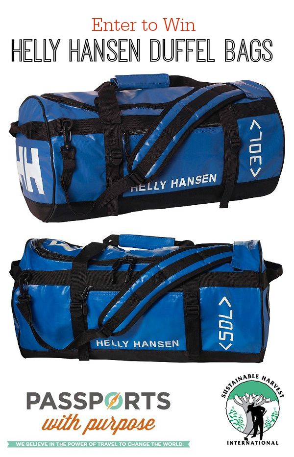 Passports with Purpose, Sustainable Harvest International and Kids On A Plane - Enter to win a Set of Helly Hansen Duffel Bags