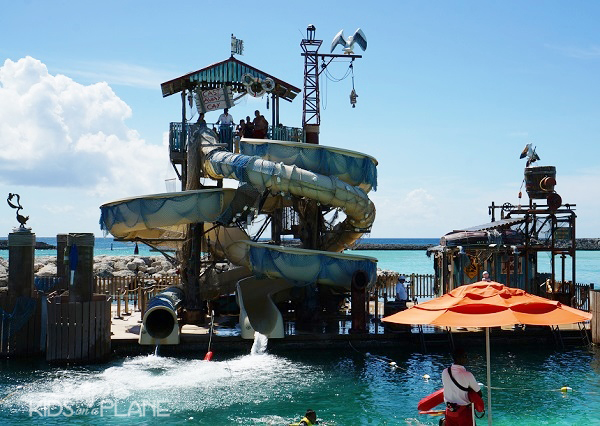 Travel Tips for Castaway Cay - Make sure you stop by Pelican Plunge if you're a waterslide fan!
