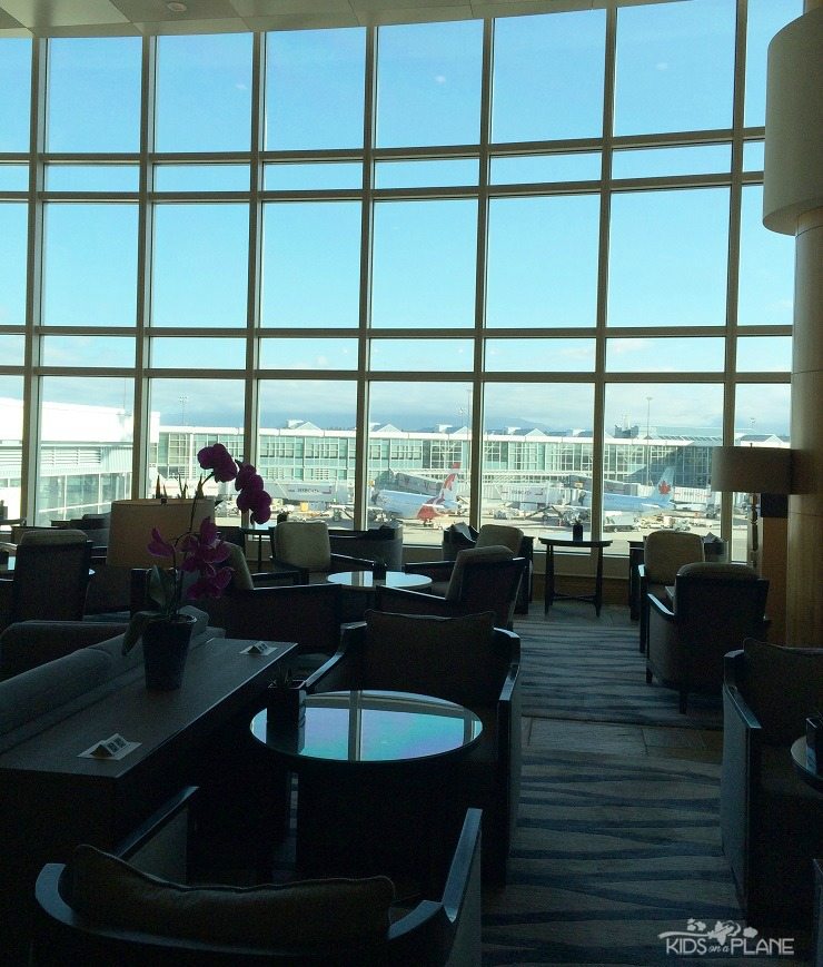 The Fairmont Vancouver Airport has several dining options for guests - this is the Jetside Bar
