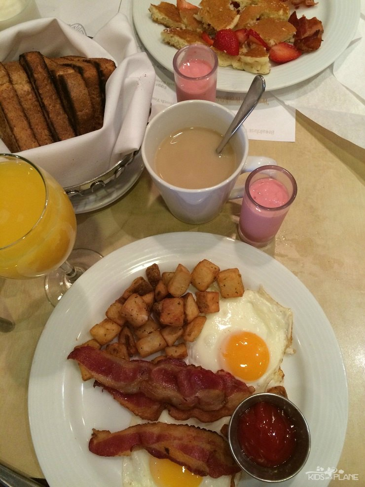 Breakfast at the Pacific Gateway Hotel at Vancouver Airport - read my family's review of this family and pet friendly hotel