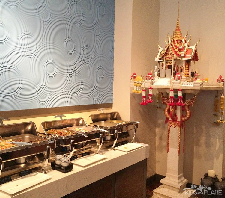 Bangkok Garden Lunch buffet features hot and cold dishes, a noodle soup bar and dessert items