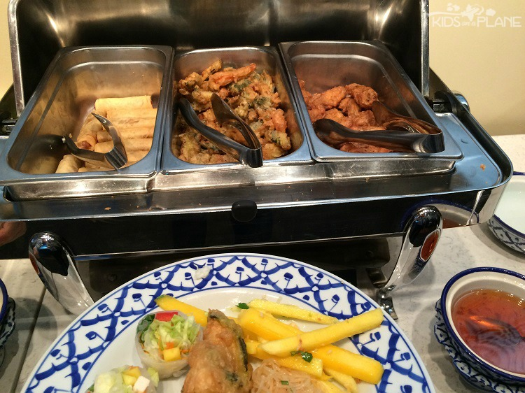 Fried items including Thai chicken wings at Bangkok Garden's Lunch Buffet