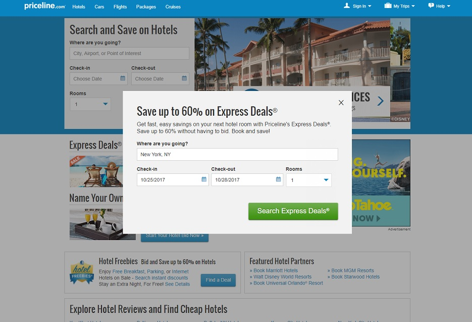 How to use Priceline Express Deals to save money on hotels