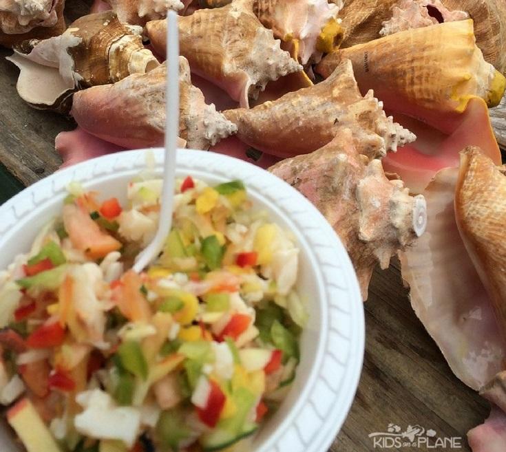 Trying Conch Salad in Nassau Bahamas - Family Friendly Activities in Nassau Bahamas