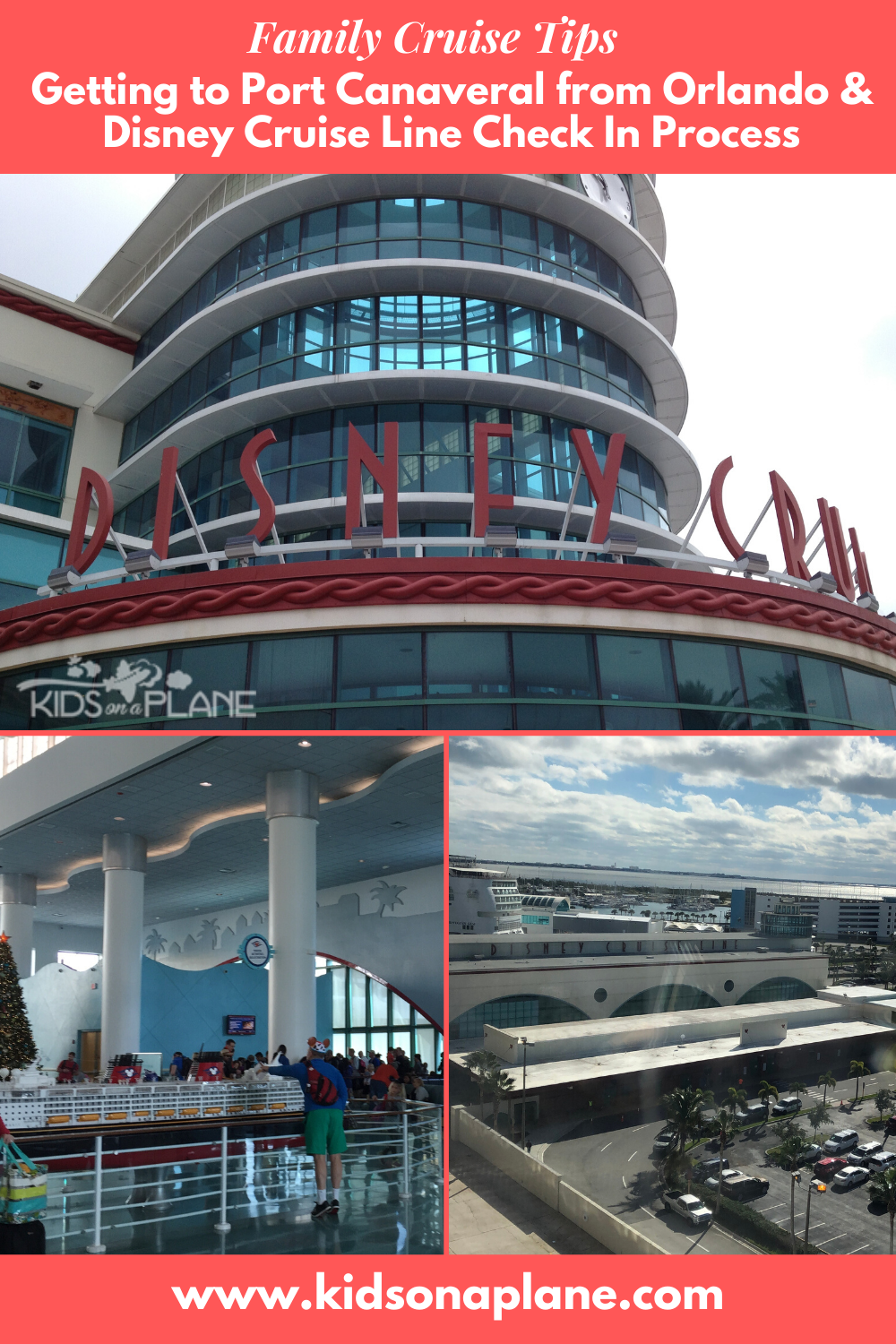 How to get to Port Canaveral from Orlando and Disney Cruise Line Check In Tips