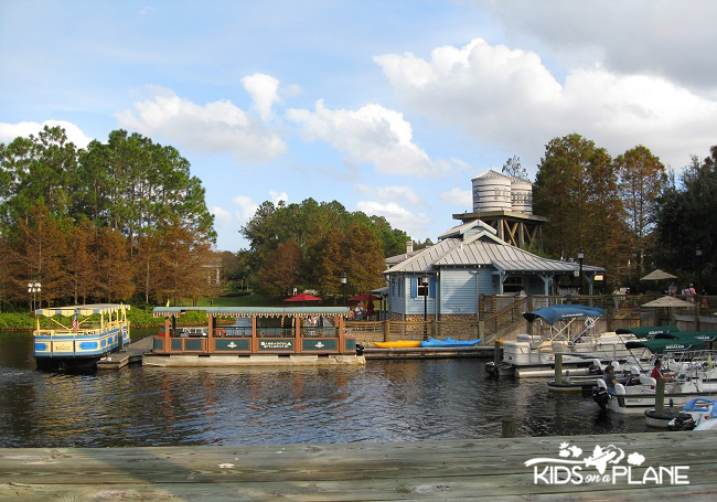 Relaxing Disney World Vacation - Boat Dock at Port Orleans Riverside Resort | KidsOnAPlane.com #disneyworld