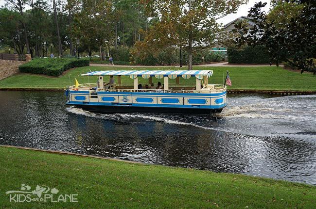 Port Orleans Riverside Resort Review Boat to Downtown Disney | KidsOnAPlane.com #disneyworld #familytravel #hotel