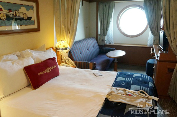 How to Choose a Stateroom on a Disney Cruise - 10 Things to Consider - Here's an Oceanview Stateroom on Disney Wonder