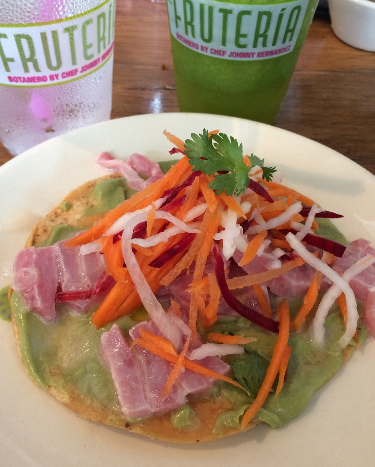 Dishes to Try in Texas - Tuna Tostada The Fruiteria