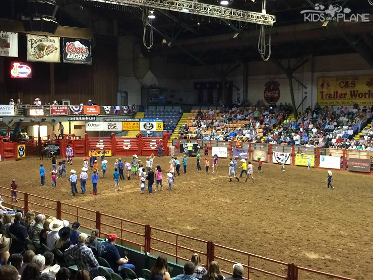 Things to Do with Kids in Fort Worth Texas - Stockyards Rodeo where kids can play tag with a calf every Friday or Saturday night at Cowtown Coliseum