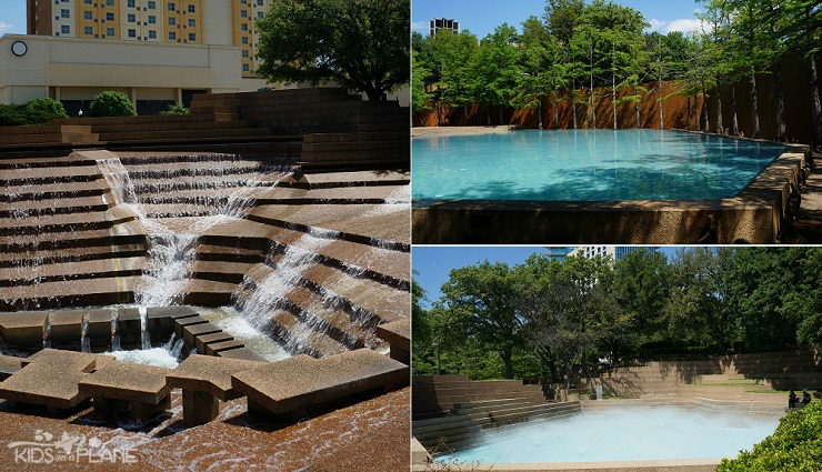 Things to Do with Kids in Fort Worth Texas - Water Gardens Downtown Fort Worth - Free and Relaxing Activity for Families