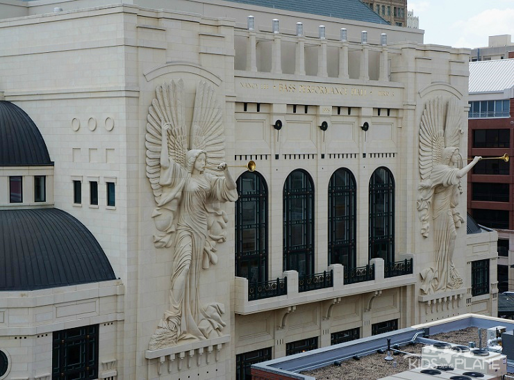 Things to Do with Kids in Fort Worth Texas - the City of Cowboys and Culture - this is Bass Performance Hall in Sundance Square