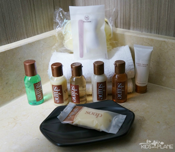 Sheratorn Fort Worth Hotel and Spa Review -Toiletries