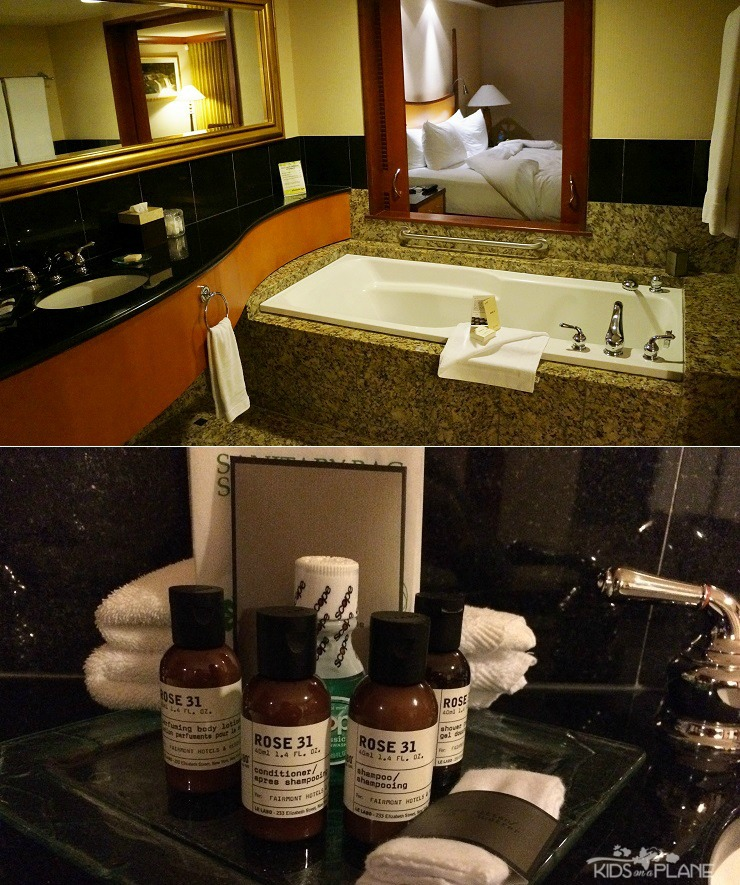 Fairmont Vancouver Airport Hotel Review - Suites come with a very spacious bathroom and dressing area