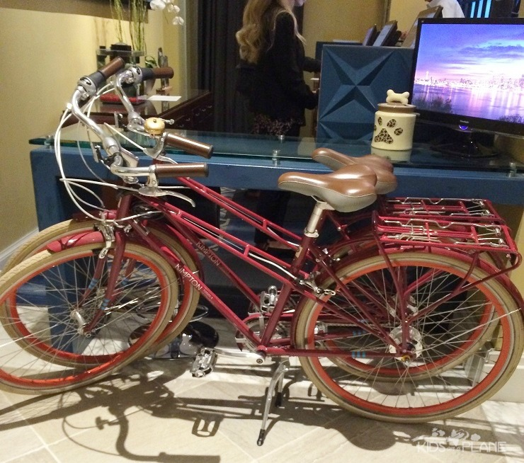 Kimpton Hotel Monaco Seattle Review - complimentary bikes are available for hotel guests