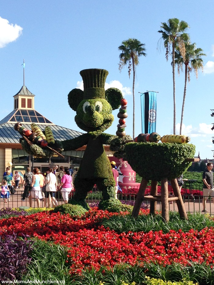 Epcot Internation Food and Wine Festival - topiaries with a food theme can be found throughout the park