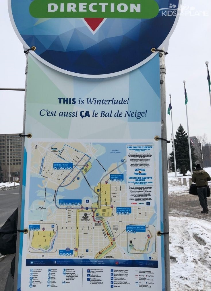Winterlude Ottawa Ontario Sno-Bus Route - Use free shuttles to get around