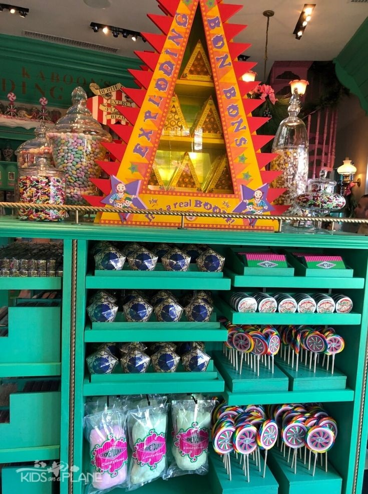 Reasons why kids will love the WWOHP - check out the candy at Honeydukes in Hogsmeade - Universal Orlando