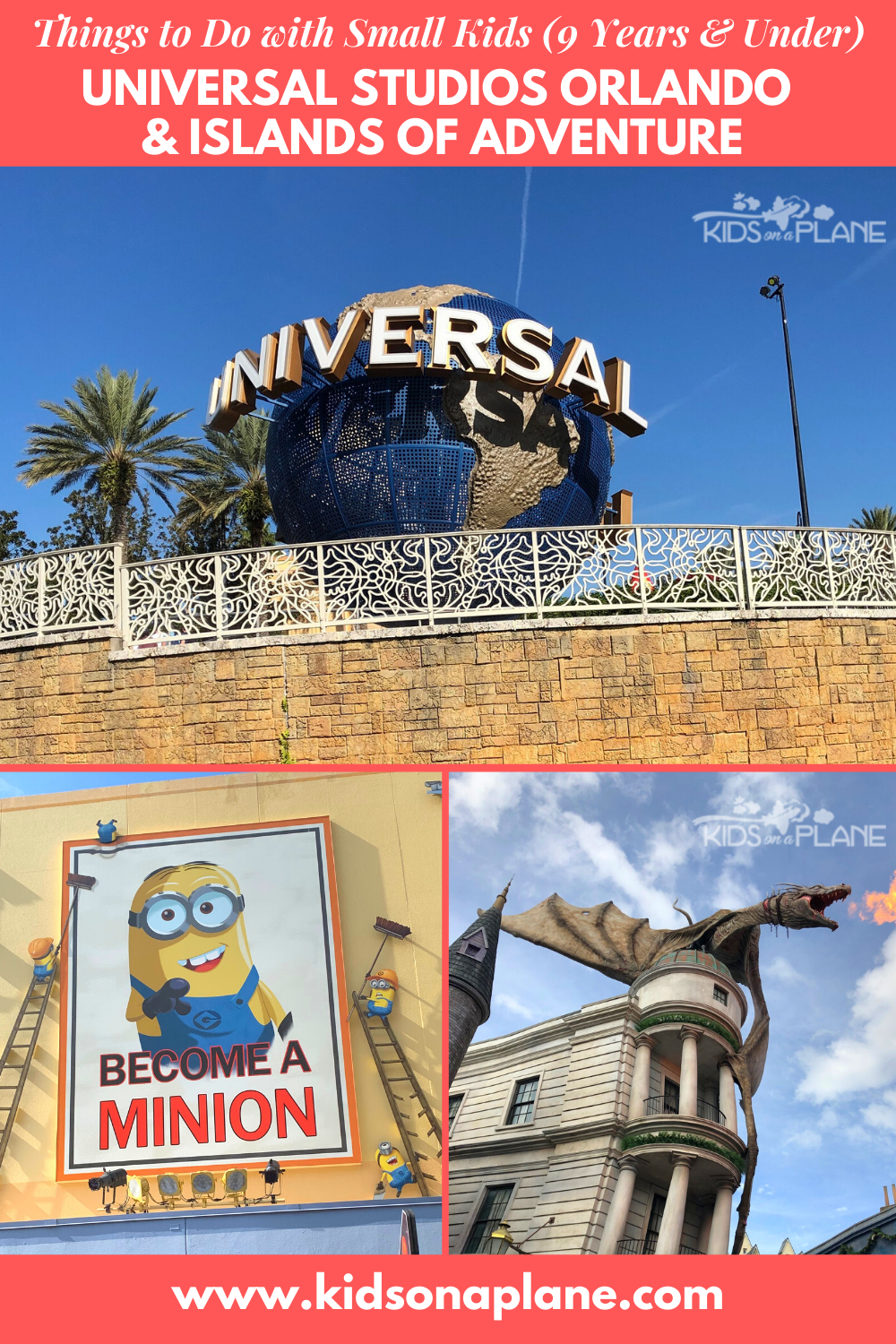 Things to Do with Small Kids - Universal Studios Orlando and Islands of Adventure - 9 Years Old and Younger