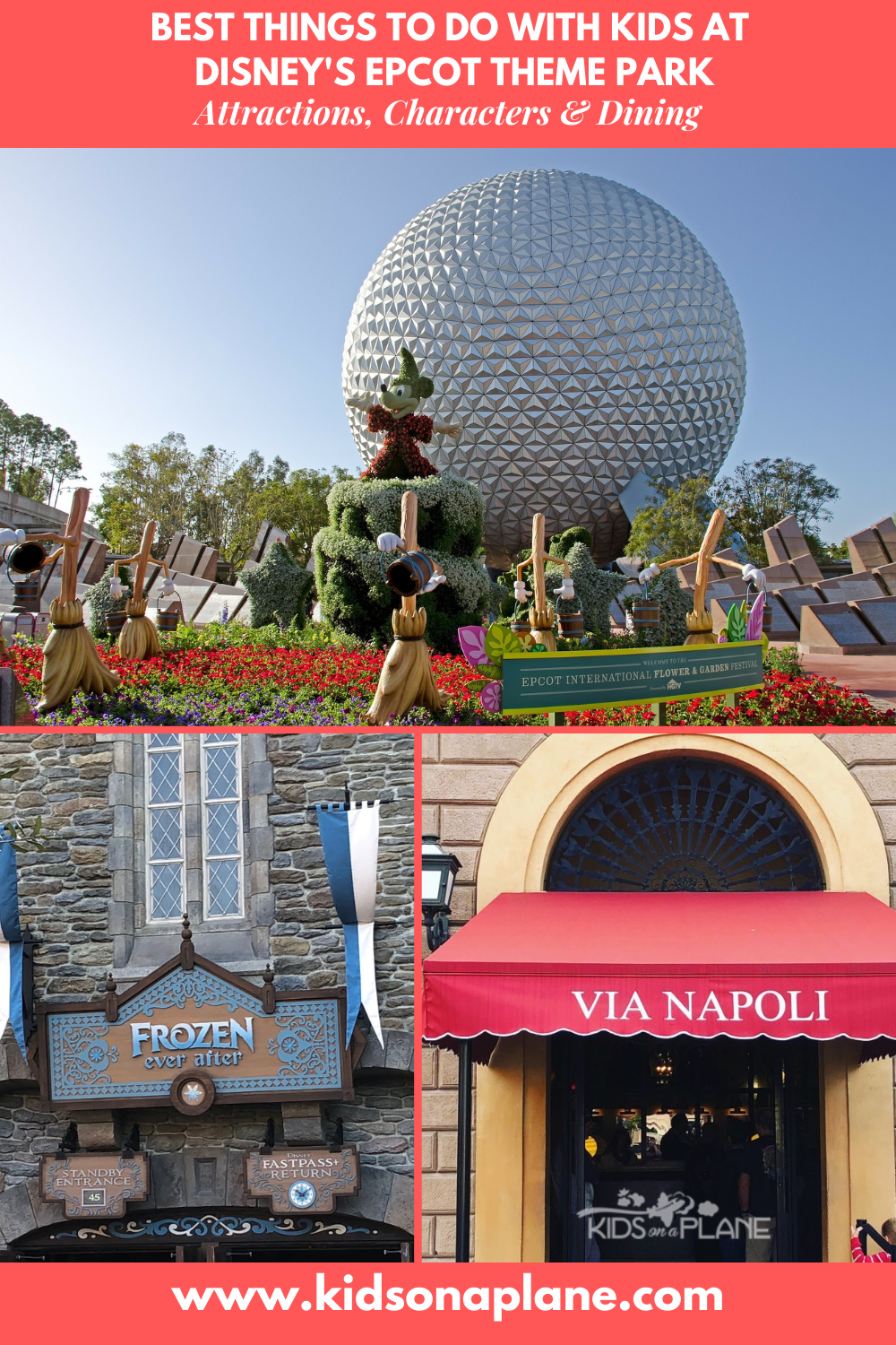 Best things to do with Kids at Disney World EPCOT Theme Park - Attractions Shows Character Meets and Dining Spots for Families