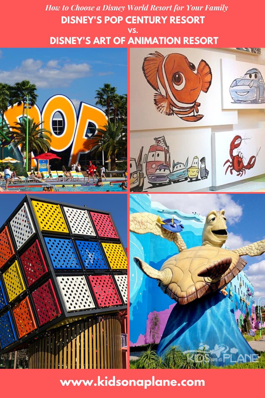 Pop Century Resort vs Art of Animation Resort - How to Choose Disney World Resort
