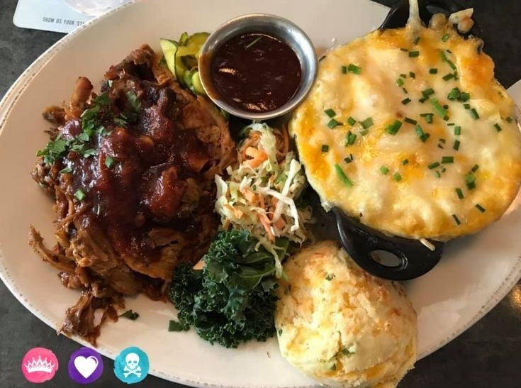 Best Kid Friendly Non Character Table Service Restaurants at Disney World - Chef Art Smiths Homecomin serves Southern classics and portions are huge