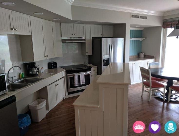 Room Options at Disneys Old Key West Resort - Some rooms have full kitchens