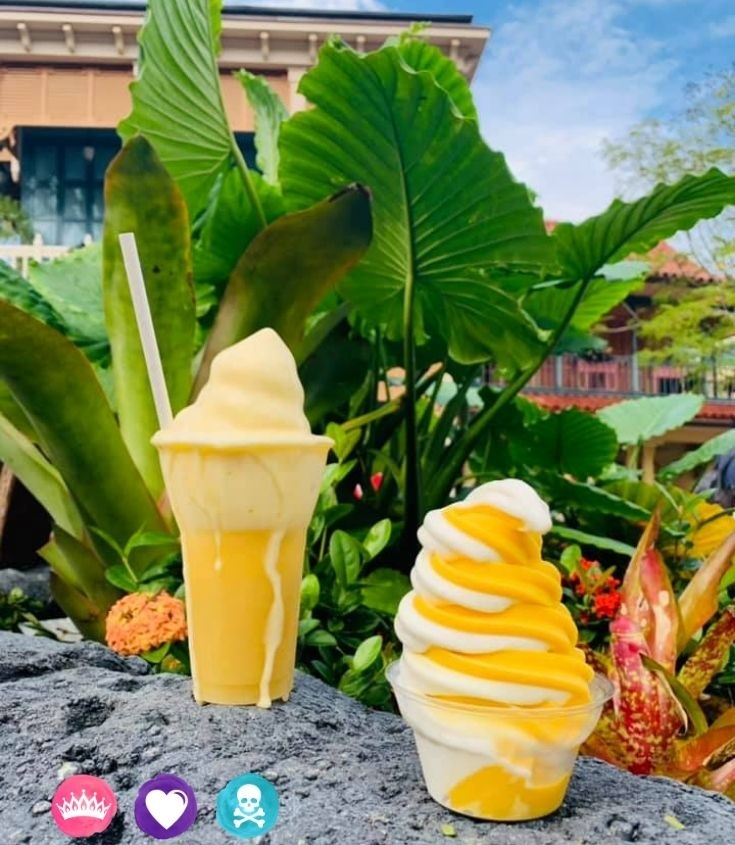 Dole Whip and Citrus Swirl at Polynesian Village Resort - How to Choose Between Polynesian Village Resort and Grand Flordian Disney World