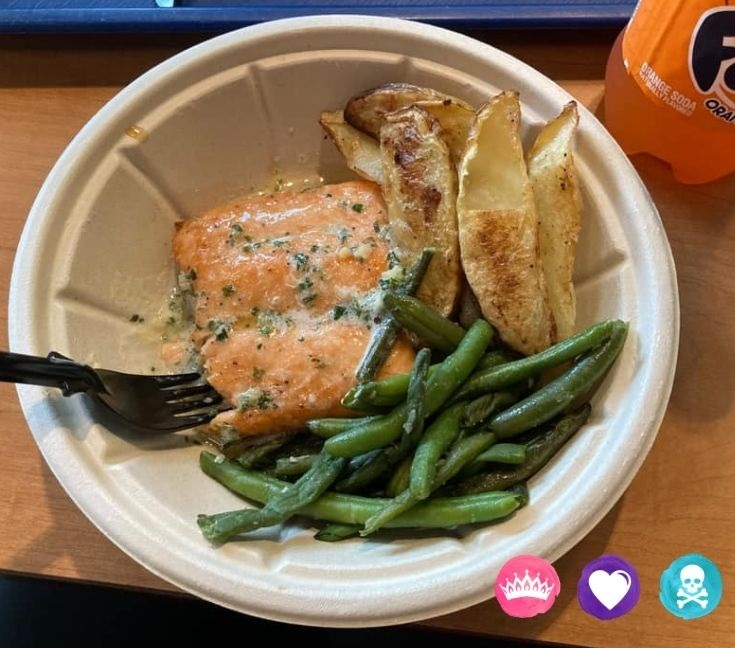 Grilled Salmon at Pop Century Resort - Best Disney World Dining Spots for Picky Eaters and Food Allergies